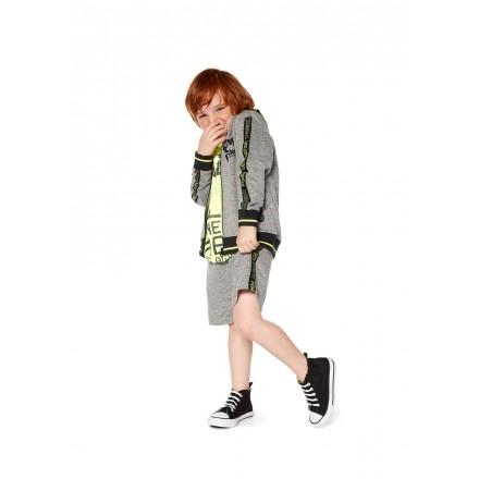 Chaqueta de color gris con capucha para niño Losan 915-6002