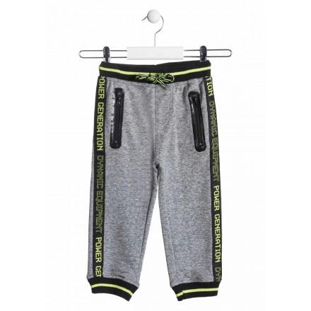 Pantalón de felpa jaspeado de color gris para niño Losan 915-6034