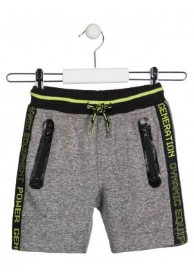 Bermuda jaspeada de color gris con cordón para niño Losan 915-6021