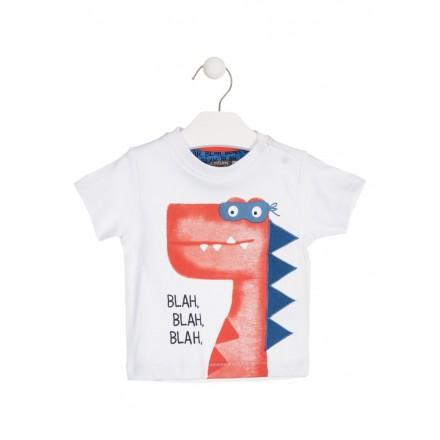 Camiseta de manga corta con dinosaurio estampado para bebé niño Losan 917-1013