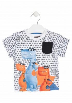 Camiseta de algodón con súper dinosaurios para bebé niño Losan 917-1012