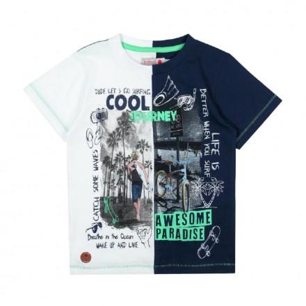 Camiseta punto liso de niño BOBOLI modelo 517079