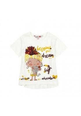 Camiseta punto liso de bebé niña BOBOLI modelo 217101