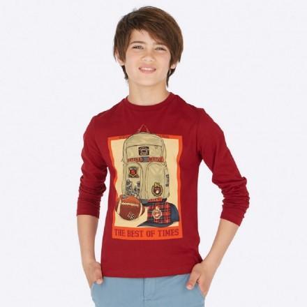 "Camiseta manga larga ""the best"" de Mayoral para niño modelo 7026"