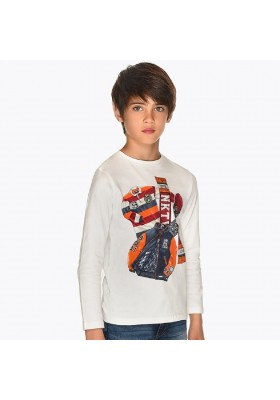 "Camiseta manga larga ""rugby"" de Mayoral para niño modelo 7027"