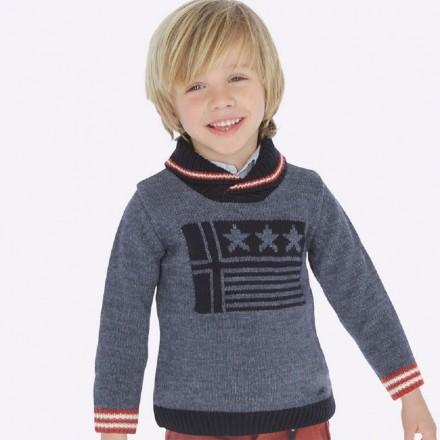Jersey intarsia cuello de Mayoral para niño modelo 4317
