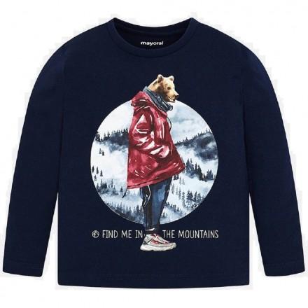 """Camiseta manga larga """"mountains"""" de Mayoral para niño modelo 4033"""