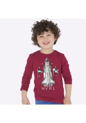 Camiseta manga larga cohete de Mayoral para niño modelo 4029