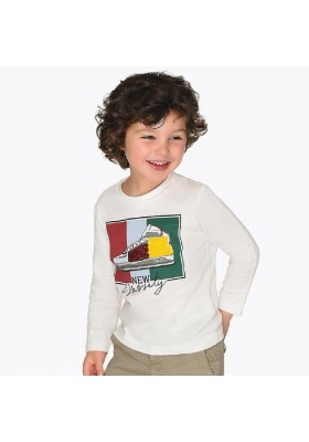 Camiseta manga larga lentejuelas de Mayoral para niño modelo 4027