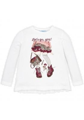Camiseta manga larga plisado espalda de Mayoral para niña modelo 4011