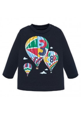 Camiseta manga larga globos de Mayoral para bebe niño modelo 2029