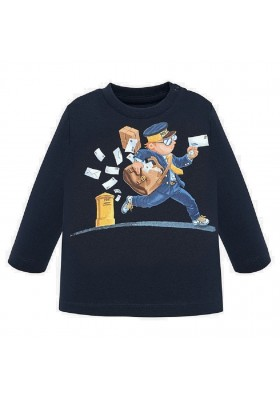 Camiseta manga larga cartero de Mayoral para bebe niño modelo 2021