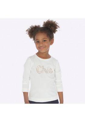 Camiseta manga larga basica  de Mayoral para niña modelo 178