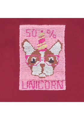 Pullover perro lentejuelas de Mayoral para niña modelo 7402