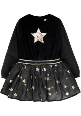 Vestido gasa de niña BOBOLI modelo 728333