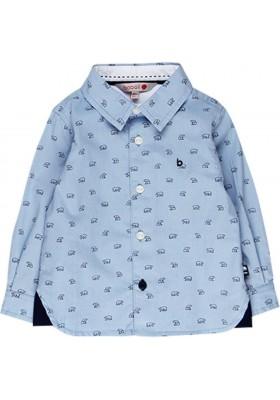 Camisa oxford manga larga de bebé niño BOBOLI modelo 718196