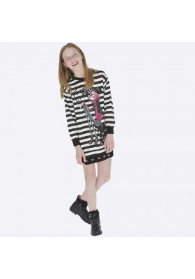 Vestido felpa serigrafia de Mayoral para niña modelo 7938
