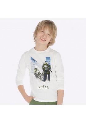 "Camiseta manga larga ""natural"" de Mayoral para niño modelo 7039"