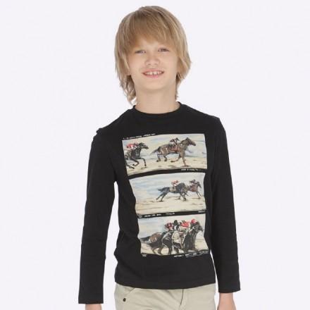 "Camiseta manga larga ""horse race"" de Mayoral para niño modelo 7033"