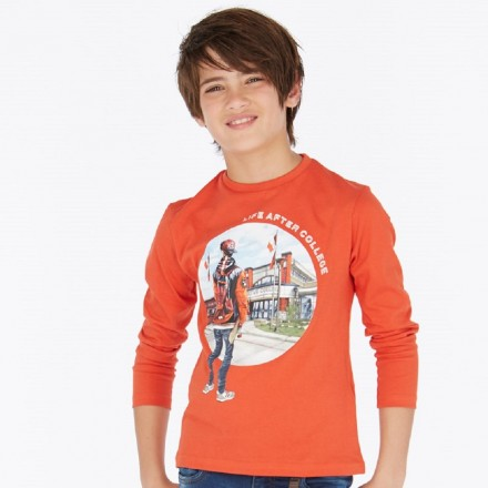 "Camiseta manga larga ""college"" de Mayoral para niño modelo 7024"