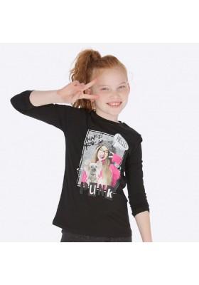 Camiseta manga larga serigrafia de Mayoral para niña modelo 7019
