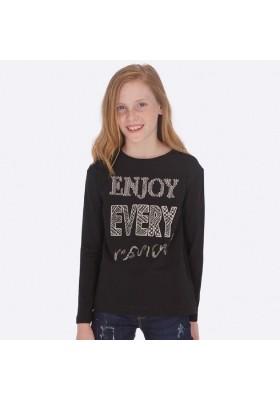 Camiseta manga larga letras aplique de Mayoral para niña modelo 7017
