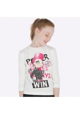 Camiseta manga larga chica punk  de Mayoral para niña modelo 7016