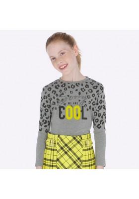Camiseta manga larga serigrafia de Mayoral para niña modelo 7009