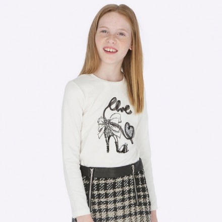 Camiseta manga larga tacon de Mayoral para niña modelo 7004