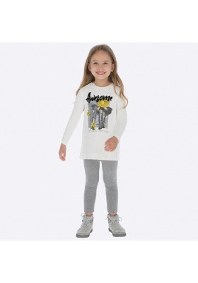 Conjunto leggings topos glitter de Mayoral para niña modelo 4716