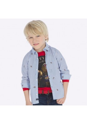 Camisa manga larga estampada de Mayoral para niño modelo 4121