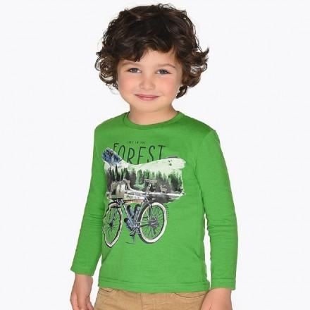 "Camiseta manga larga ""bicicleta"" de Mayoral para niño modelo 4032"