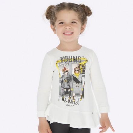 Camiseta manga larga niñas de Mayoral para niña modelo 4015