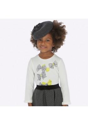 Camiseta manga larga puños volante  de Mayoral para niña modelo 4009