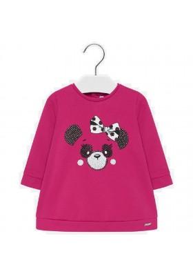 Vestido felpa panda de Mayoral para bebe niña modelo 2933