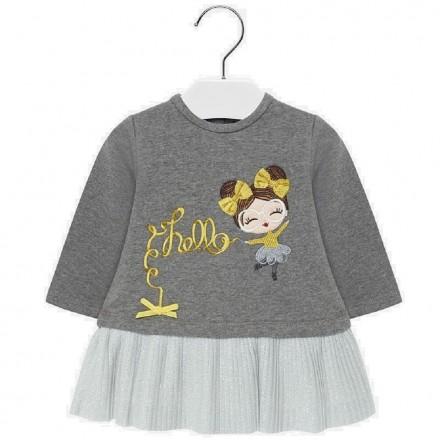 Vestido felpa bordado de Mayoral para bebe niña modelo 2930