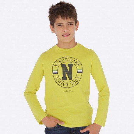 Camiseta manga larga basica de Mayoral para niño modelo 842