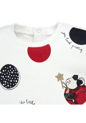 Camiseta manga larga serigrafia de Mayoral para bebe niña modelo 2012