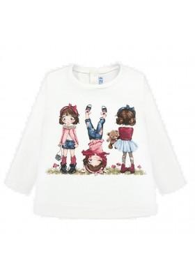Camiseta manga larga serigrafia de Mayoral para bebe niña modelo 2010