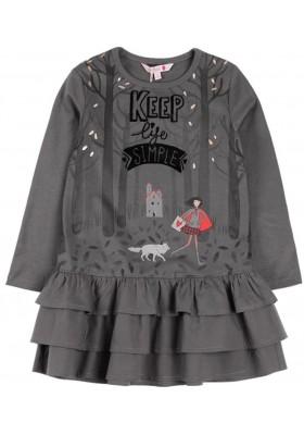 Vestido punto combinado de niña BOBOLI modelo 418104