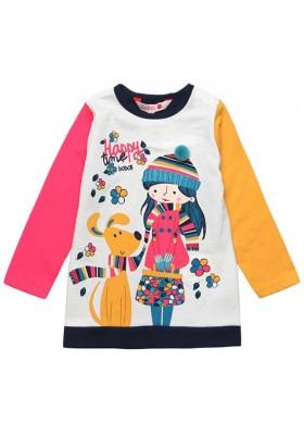 Vestido punto liso de bebé niña BOBOLI modelo 218078