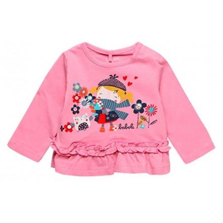 Camiseta punto liso de bebé niña BOBOLI modelo 138024