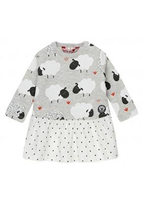 Vestido felpa combinado de bebé niña BOBOLI modelo 148104
