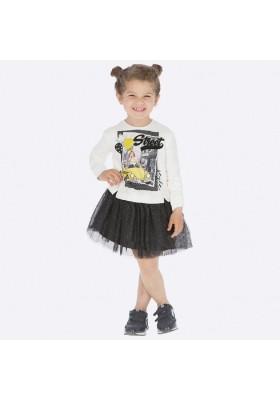 Vestido faldon tul de Mayoral para niña modelo 4945