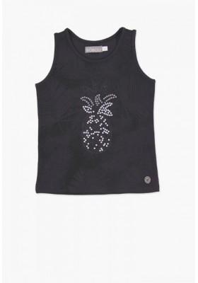Camiseta sin mangas BOBOLI niña color negro