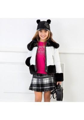 Falda cuadros flecos de Mayoral para niña modelo 7912