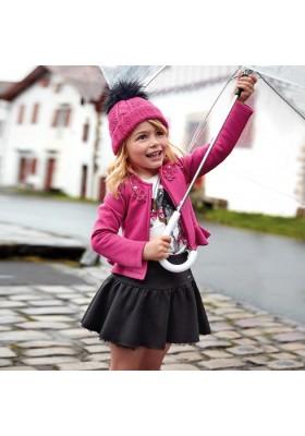 Falda antelina brillo de Mayoral para niña modelo 4904