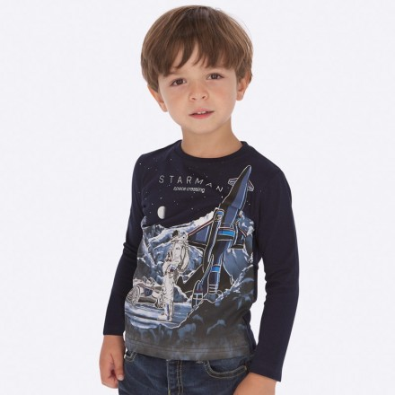 "Camiseta ""glows in the dark"" de Mayoral para niño modelo 4028"