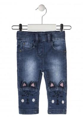 pantalon con bordado LOSAN de bebe niña modelo 928-6025AA