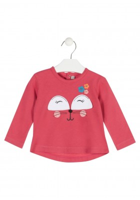 camiseta manga larga con estampado LOSAN de bebe niña modelo 928-1015AA